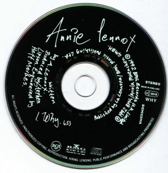 Diva Annie Lennox: Annie Lennox Diva Spain Promo CD PD 75326 19