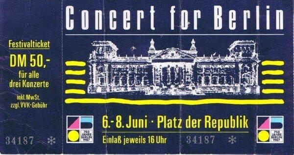 1987 06 07 Memorabilia Concert Ticket Eurythmics 1