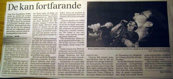 1999 09 22 Memorabilia Concert Review Eurythmics 01