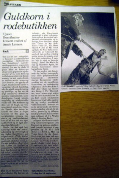 1999 09 24 Memorabilia Concert Review Eurythmics 03