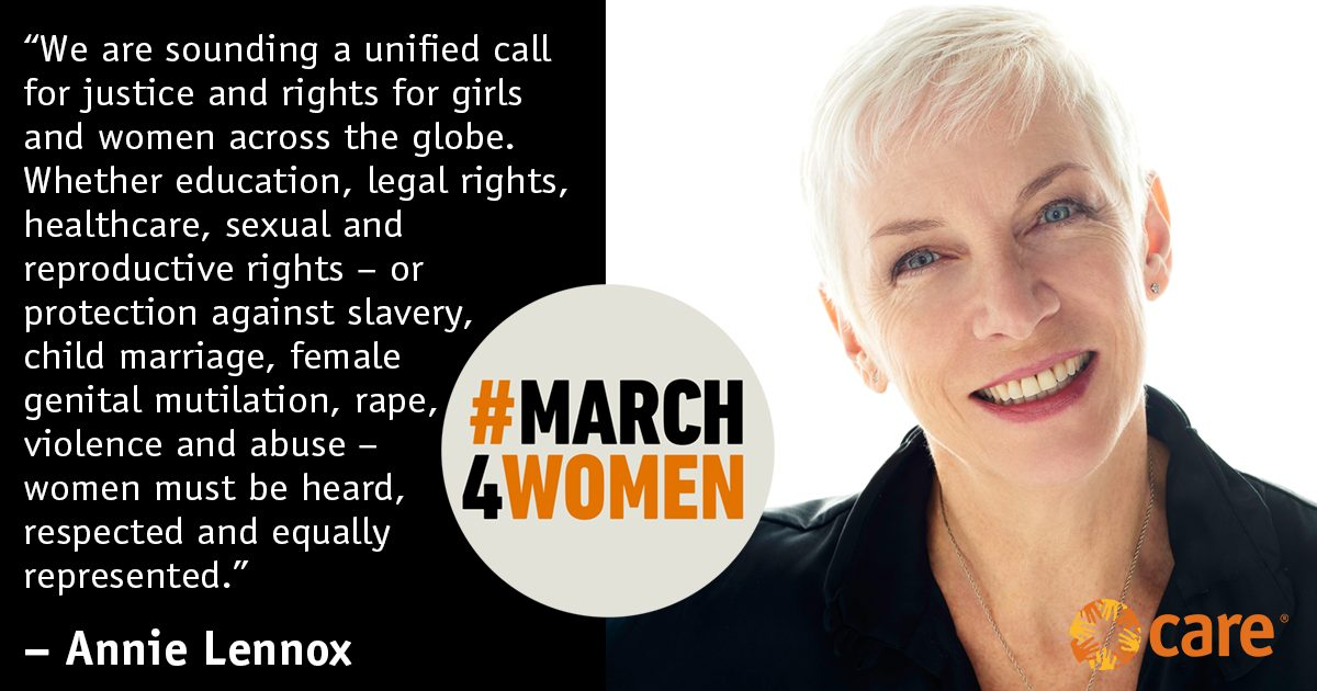 Join Annie Lennox in London on Sunday 5th March