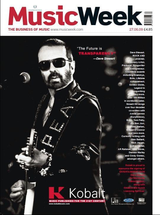 Ultimate Eurythmics Archives : Dave Stewart - Music Week Magazine - 27/06/2009