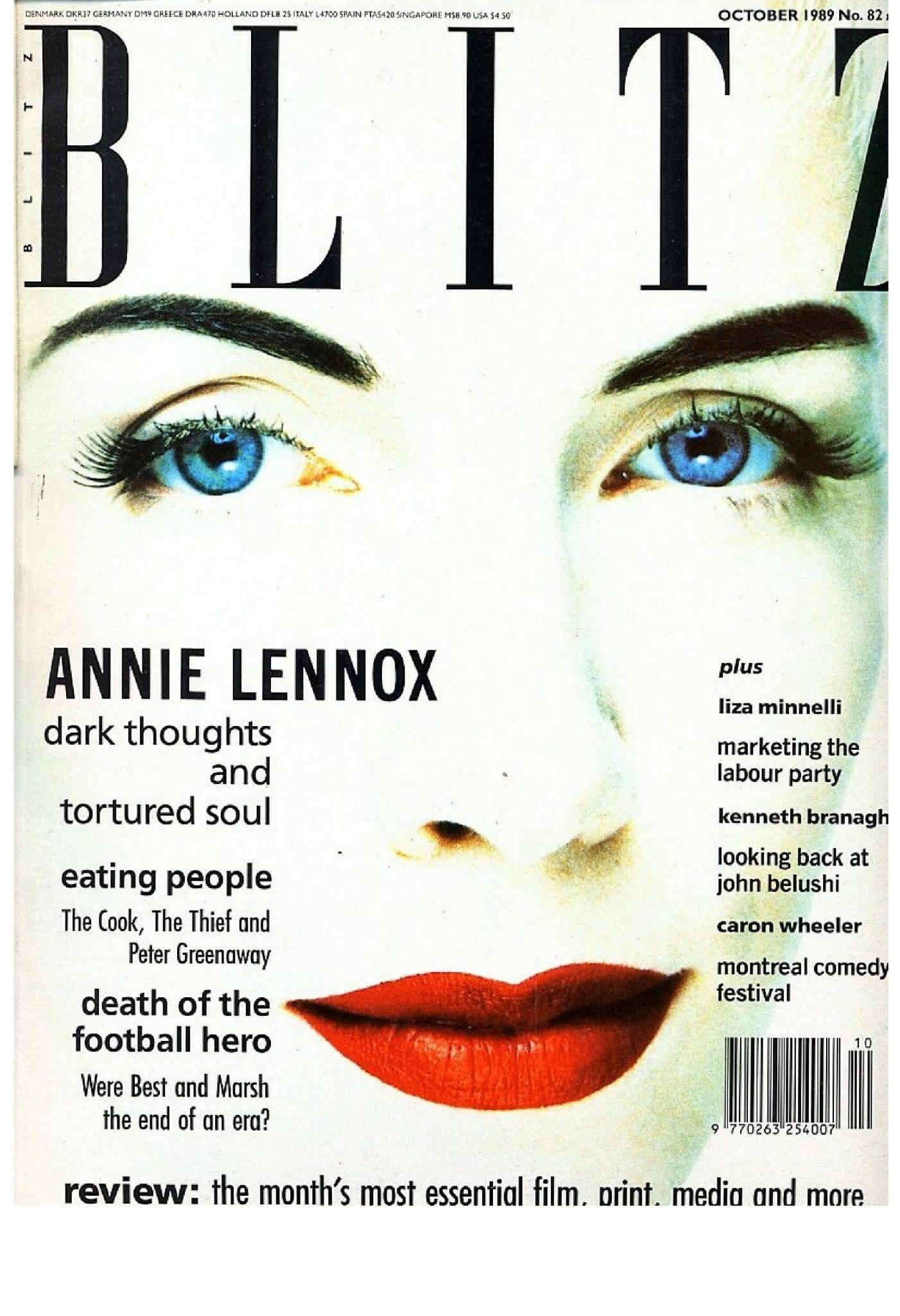 Ultimate Eurythmics Archives : Eurythmics - Blitz Magazine - 01/10/1989