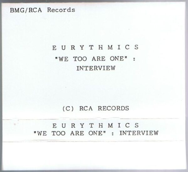 3159 - Eurythmics - Interview Discs - We Too Are One - Interview - UK - Promo Cassette - PROMO