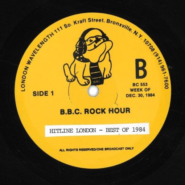3191 - Eurythmics - Radio And TV Shows - BBC Rock Hour - Hitline London - Best Of 1984 - UK - Promo LP - BC553