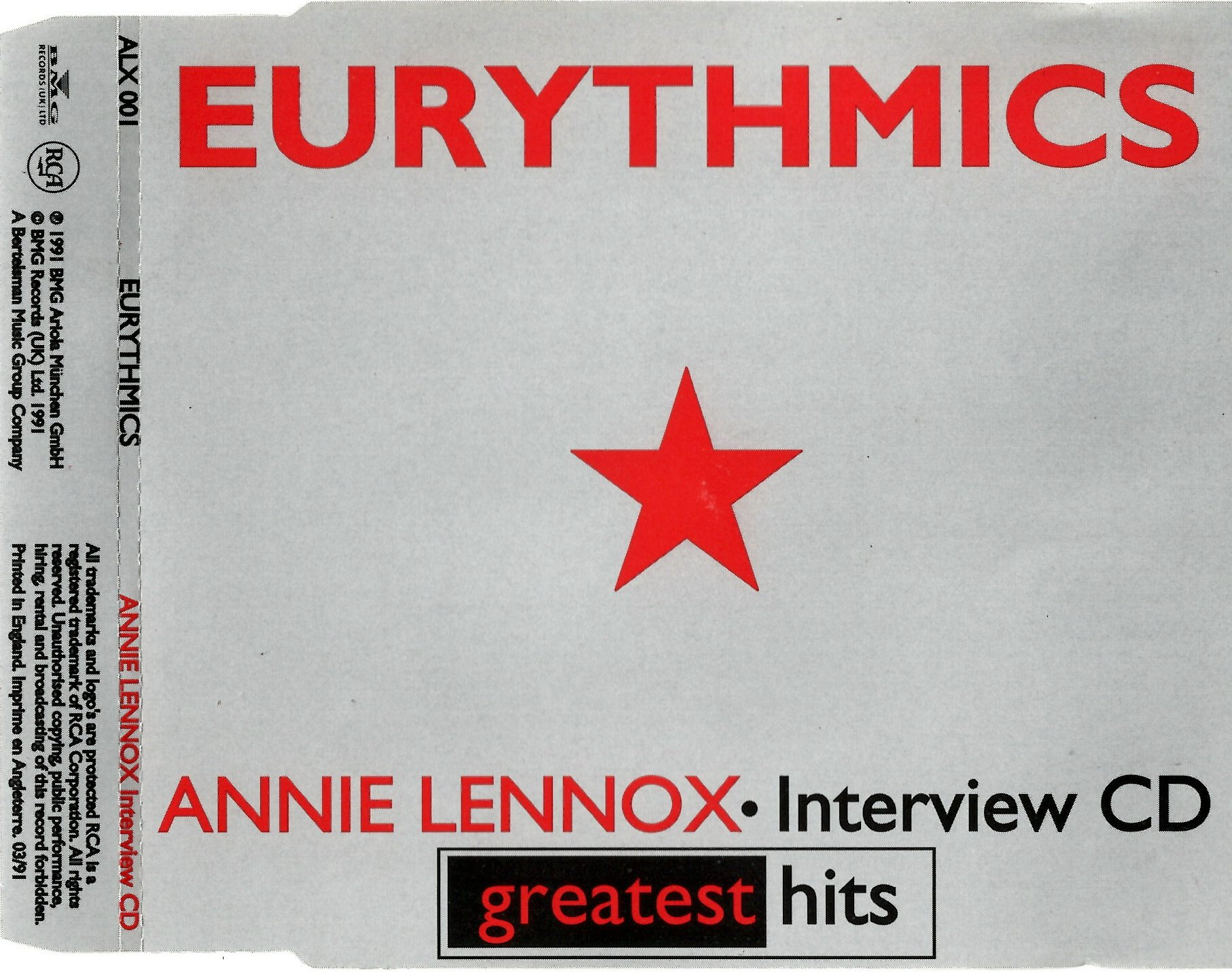 3244 - Eurythmics - Other Promos - Greatest Hits Promo Interview - UK - Promo CD - ALX001
