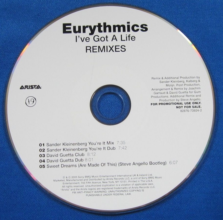 3851 - Eurythmics - Ive Got A Life - USA - Promo CD Single - 82876