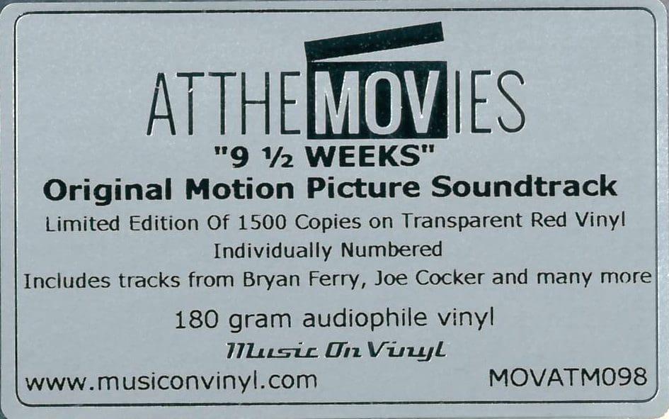 5005 Eurythmics Soundtrackfeatured 9 1 2 Weeks UK LP MOVATM098 06