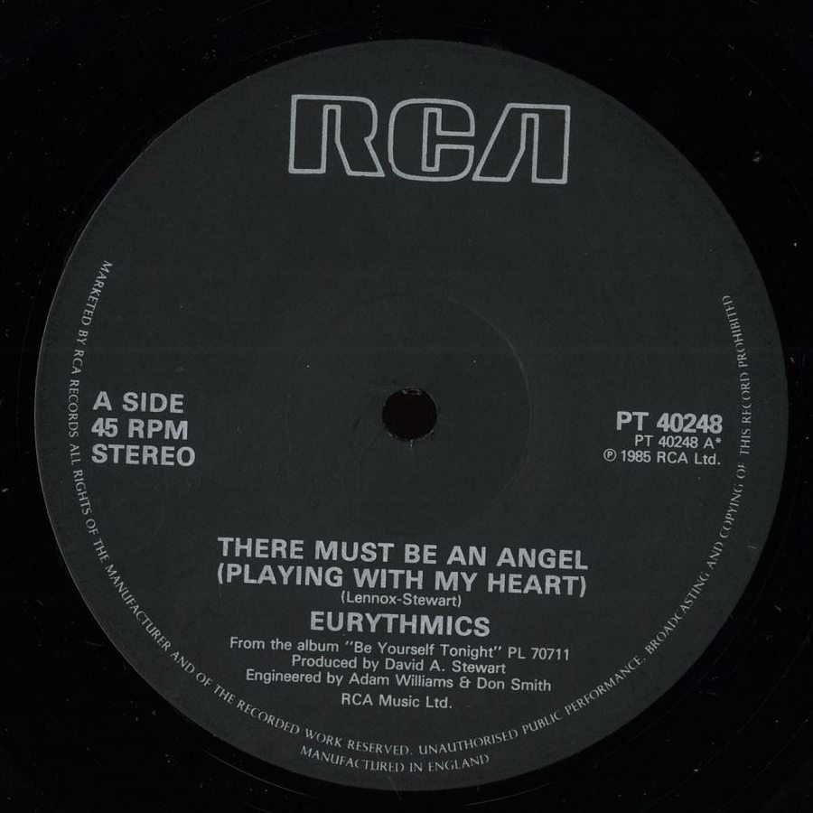 Eurythmics - There Must Be An Angel (Playing With My Heart) (Special Dance Mix)