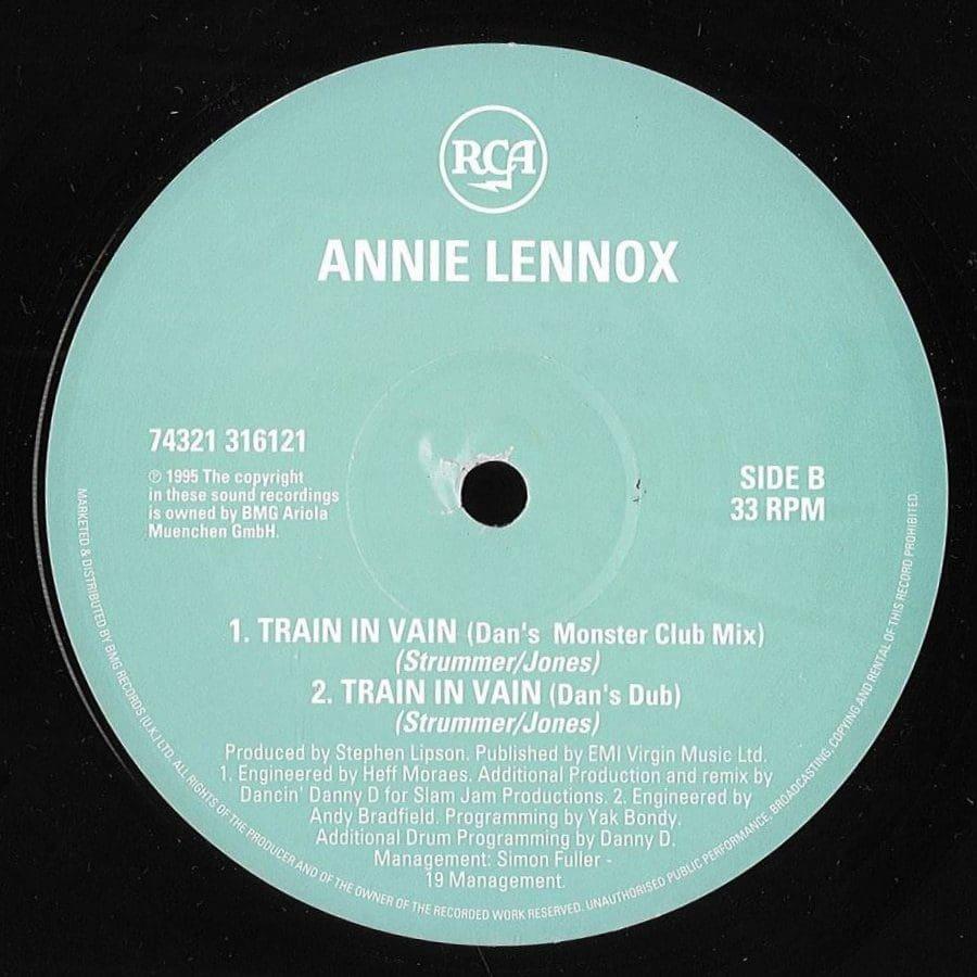 1379 Annie Lennox Train In Vain UK 12 Single Doublepack