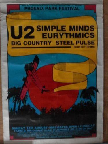 1983 08 14 Memorabilia Concert Poster Eurythmics