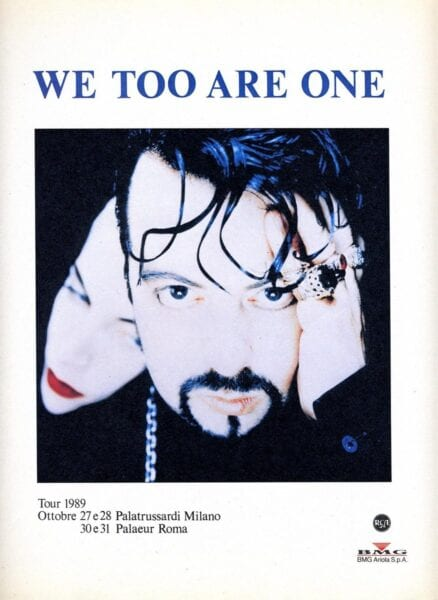 1989 10 27 Memorabilia Concert Advert Eurythmics