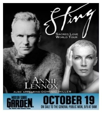 2004 10 19 Memorabilia Concert Advert Annie Lennox