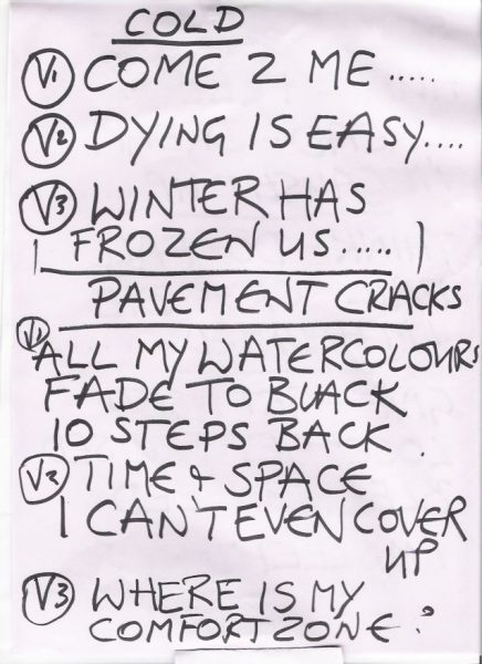 2009 03 07 Memorabilia Setlists Annie Lennox