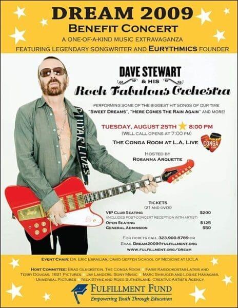2009 08 25 Memorabilia Concert Poster Dave Stewart