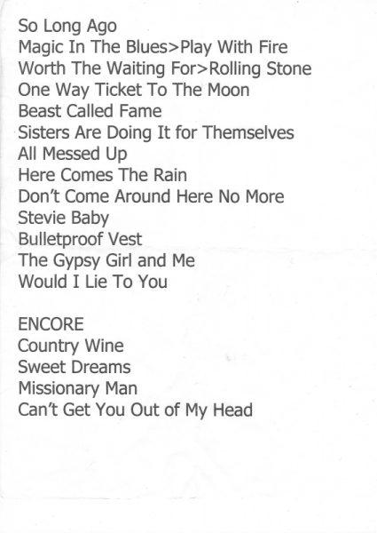 2010 12 09 Memorabilia Setlists Dave Stewart