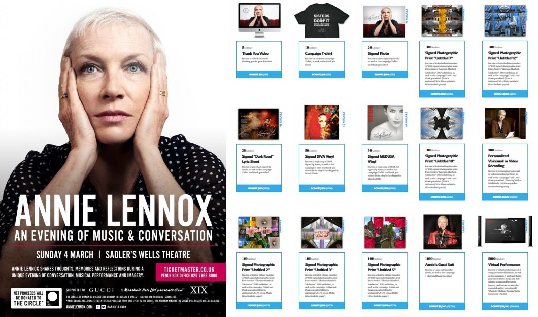 Annie Lennox announces An Evening of Music and Conversation – Tickets are on sale now
