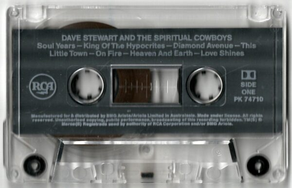 3747 Dave Stewart And The Spiritual Cowboys Australia Cassette PK 74710 04