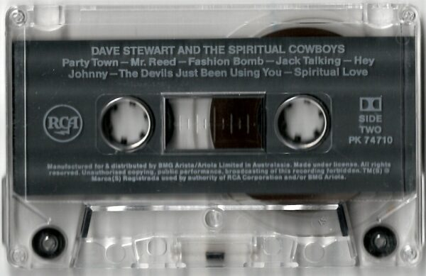 3747 Dave Stewart And The Spiritual Cowboys Australia Cassette PK 74710 05