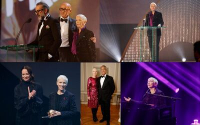Annie Lennox has had a busy couple of weeks – 1 charity fundraiser, 1 live performance, and receiving and giving an award!