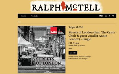 Annie Lennox & Ralph McTell Streets Of London single to get a limited CD release – Pre-orders are being taken now
