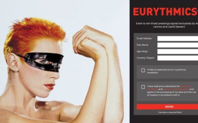 Win 8 signed test pressings of the Eurythmics vinyl reissues