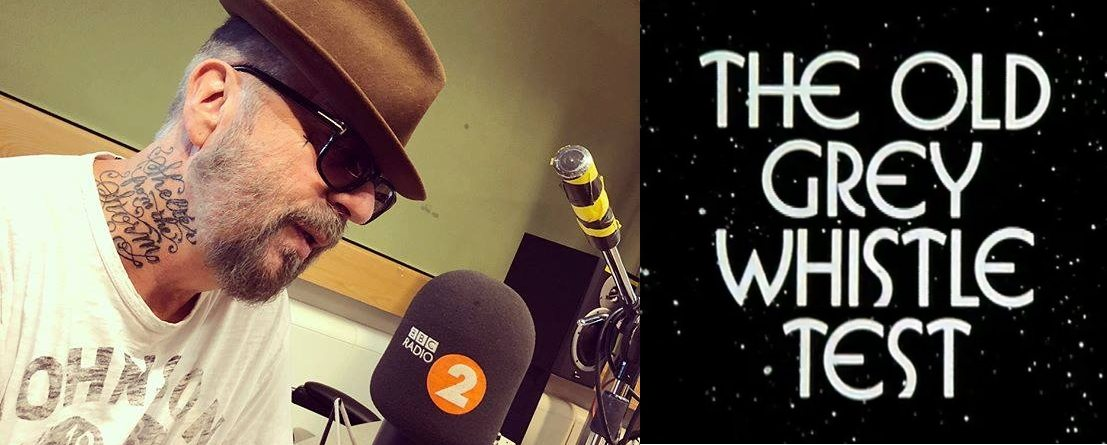 Dave Stewart will be on BBC Radio 2 this afternoon followed by the live episode of The Old Grey Whistle Test