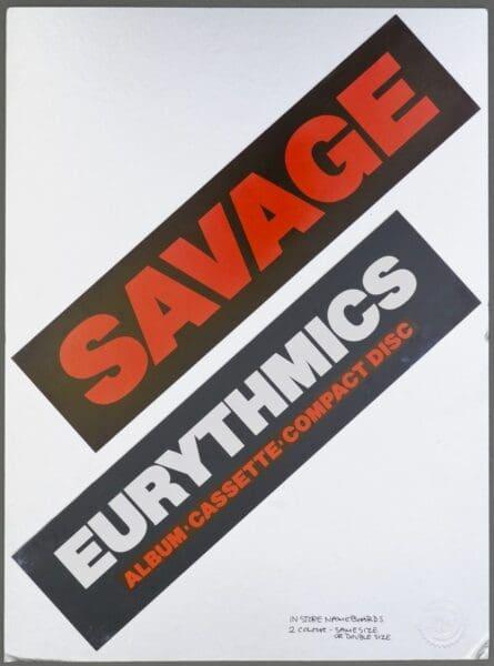 Memorabilia Artwork Savage Alternative Artwork Eurythmics12