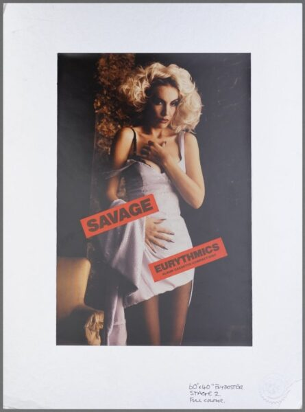 Memorabilia Artwork Savage Alternative Artwork Eurythmics16