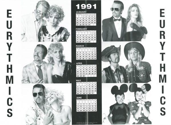Memorabilia Calendars Eurythmics 1991 02