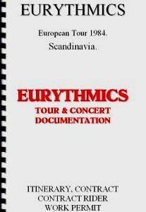 Memorabilia Tour Itinerary Eurythmics Revenge Tour 05