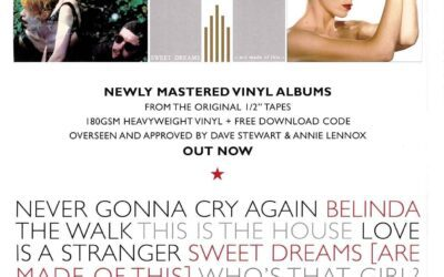 First advert for Eurythmics newly mastered albums appears in the new issue of Classic Pop magazine