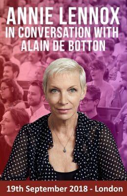 Annie Lennox Alain De Botton In Conversation