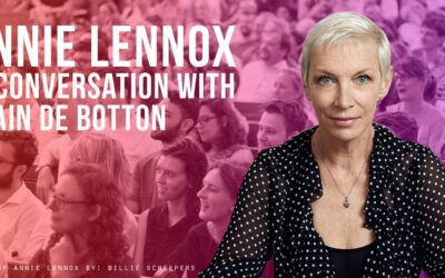 Tickets are on sale for Annie Lennox in Conversation with Alain de Botton at The Emmanuel Centre in London