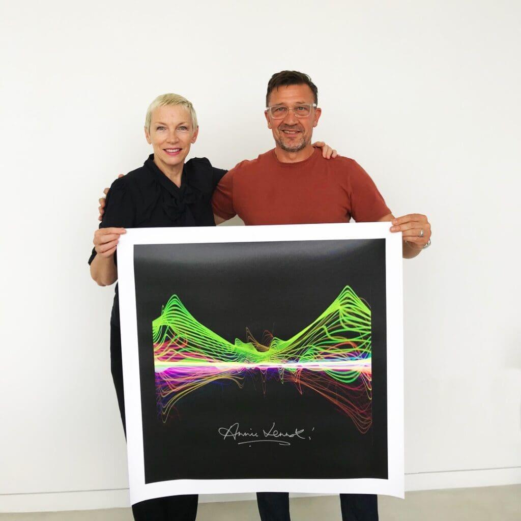 Annie Lennox Soundwaves Art Signing