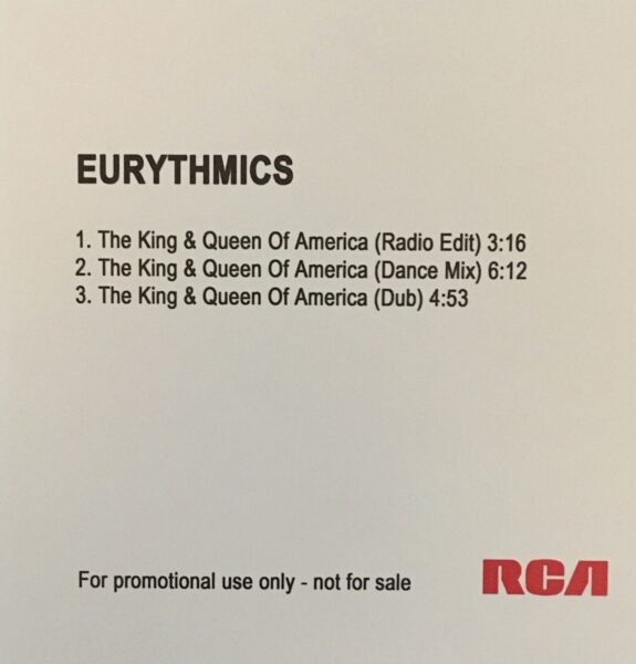 5643 - Eurythmics - The King And Queen Of America - UK - Promo CD Single