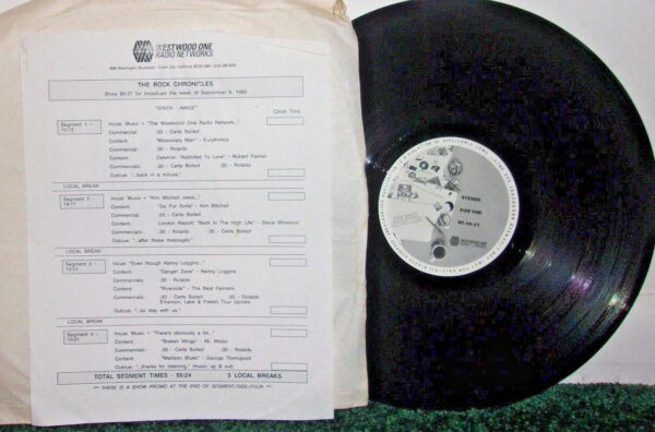 5681 - Eurythmics - Radio And TV Shows - Westwood - The Rock Chronicles - USA - Promo LP - RC86-37