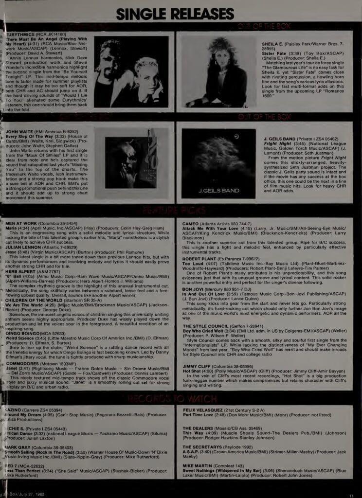1985 08 03 Eurythmics USA Cashbox 02 - Ultimate Eurythmics: